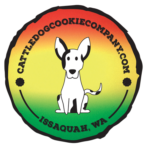 Rasta  Cattledog Cookie Sticker - Cattledog Cookie Co.