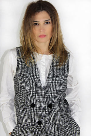 Gilet con bottoni in velluto