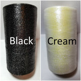 black and cream shimmer thread