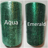 aqua and emerald shimmer thread