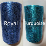 royal and turquoise shimmer thread