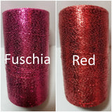 fuschia and red shimmer thread