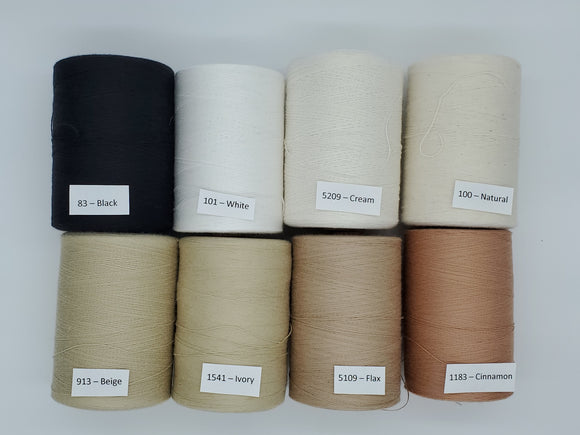 Single Color Cotton Yarn with Shimmer Thread