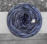 black and periwinkle variegated yarn