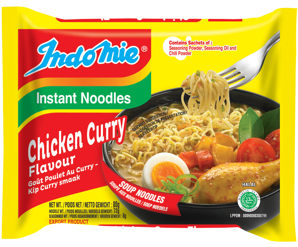 Chicken Curry Flavour Noodles - CASE of 40 packets