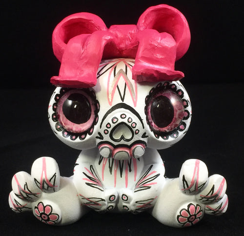 Customized Designer Toy -  Hot Pink Calavera Sugar skull