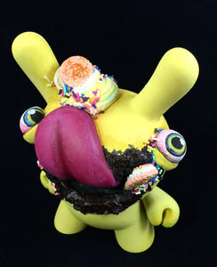 "Custom Designer Toy - 5"" Yellow Durian  Dunny"