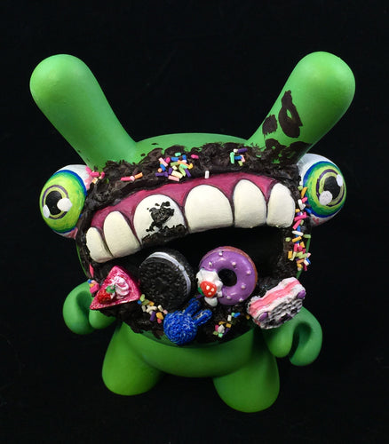 "Custom Designer Toy - 5"" Green Motchi Dunny"