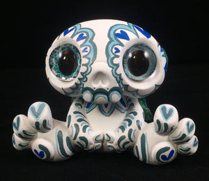 Customized Designer Toy -  Blue Calavera Sugar skull