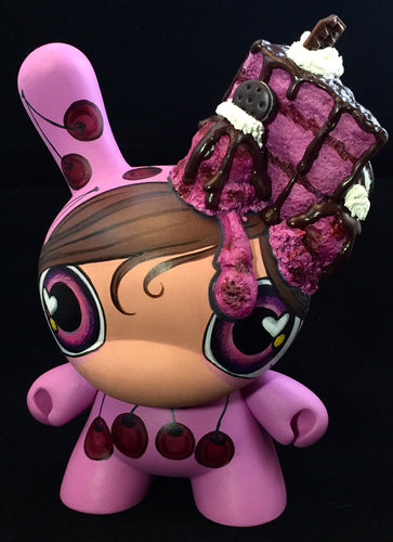"Custom Designer Toy - 7"" Dark Chocolate & Cherry Dunny"