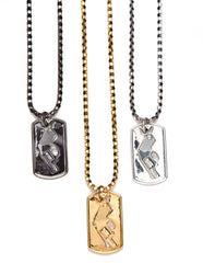 Six Shooter Dog Tag Necklace