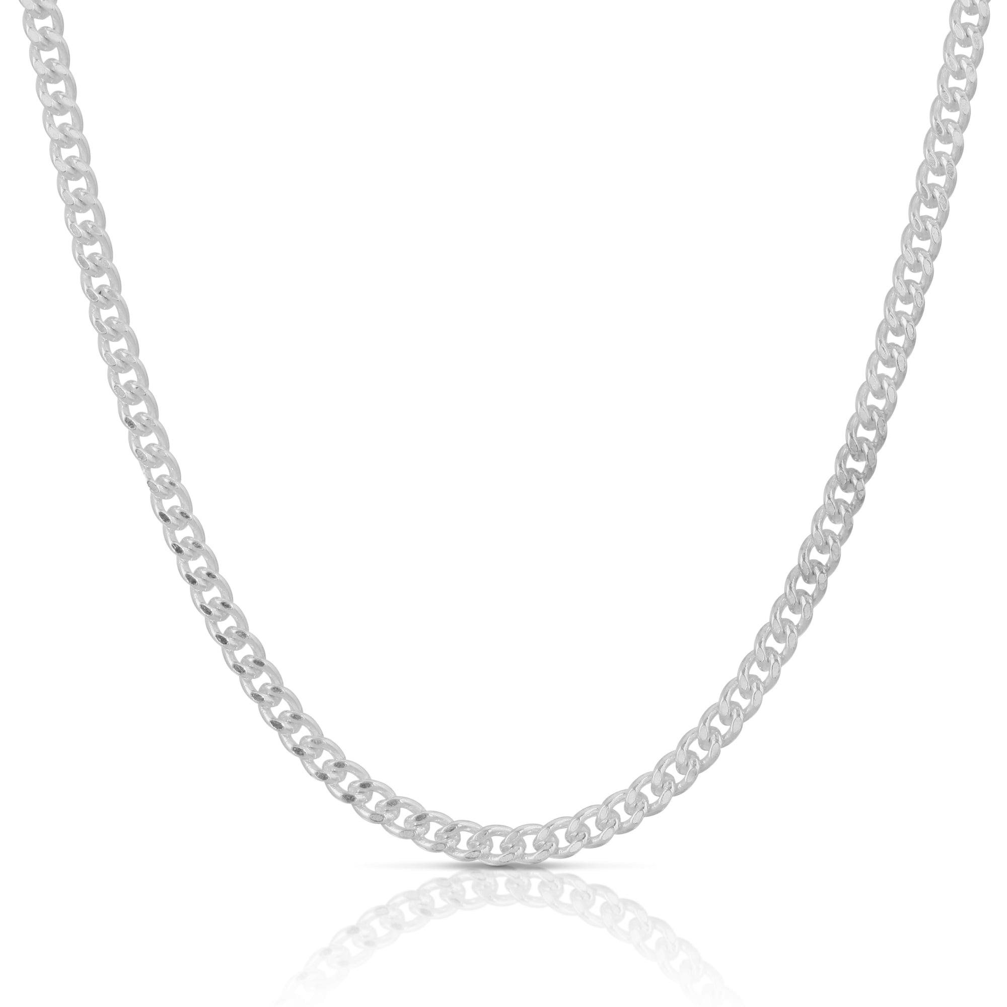 Sterling Silver Thin Cuban Chain