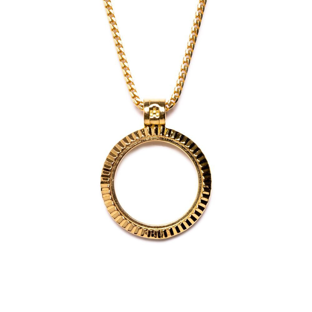 Fluted Bezel Necklace