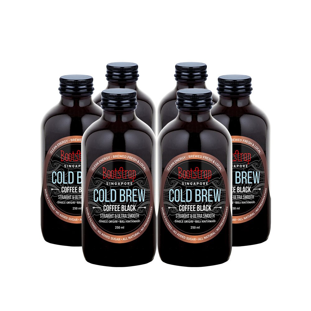 Bootstrap Cold Brew Coffee, Black Cold Brew, Pack of 6
