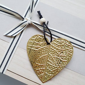 Gold Pressed Metal Heart