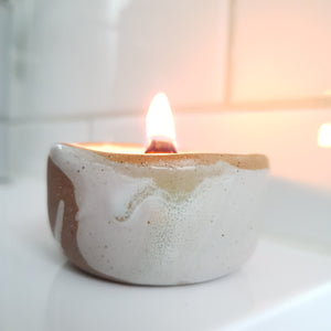 Stoneware Tealight Candles and Floating Petals