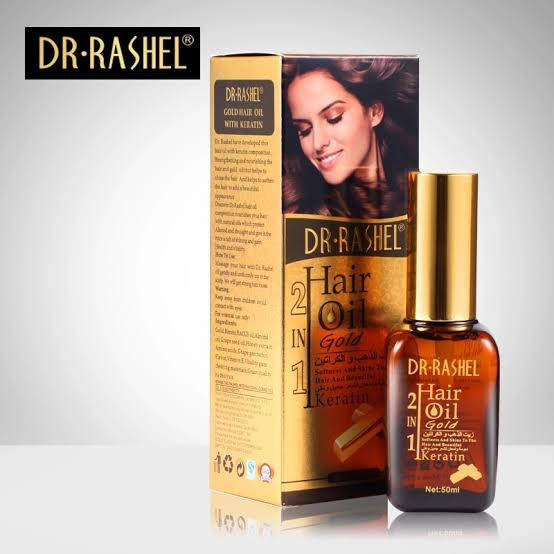 DR Rashel Hair Oil Gold 2 in 1 and Beard  oil
