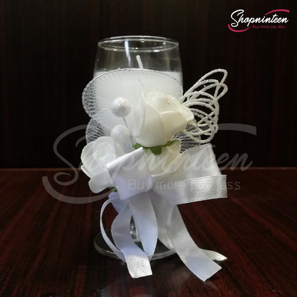 Beautiful Flower Candle Gift