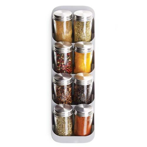 Drawer Store Spice Rack With Steel Bottles
