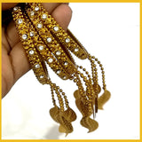 Amazing Golden Bangles Pack of 4