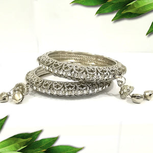 Amazing Silver Bangles Pack of 2