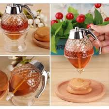 Handmade Glass Honey Dispenser