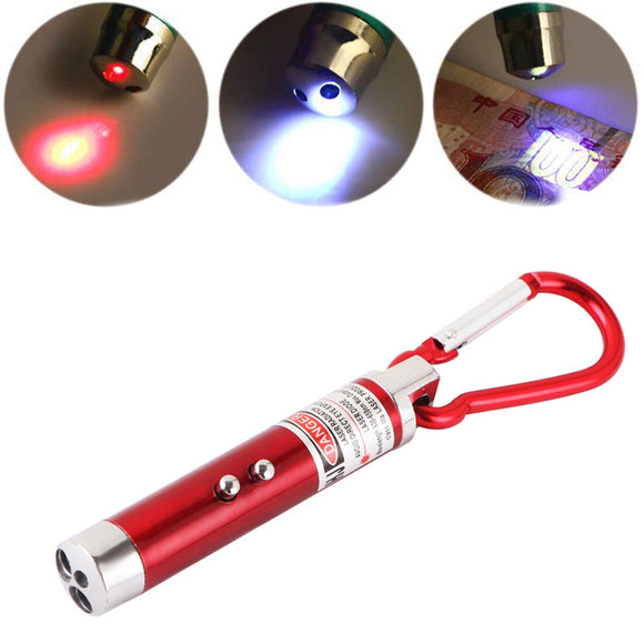High Quality 3 In 1 Laser Pointer Pen Flashlight