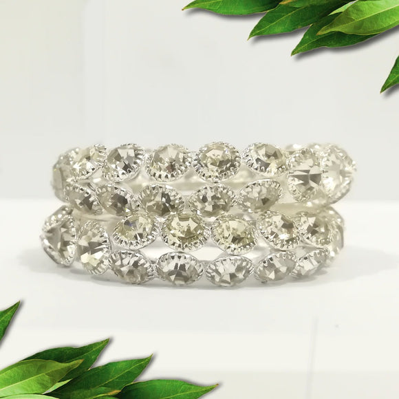 Amazing silver daimond Bangles small baby Pack of 2