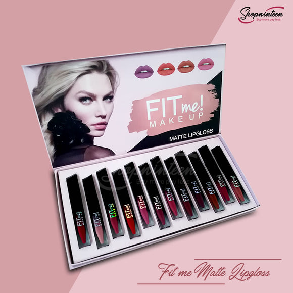 Fit ME Matte Lip Gloss Pack Of  12