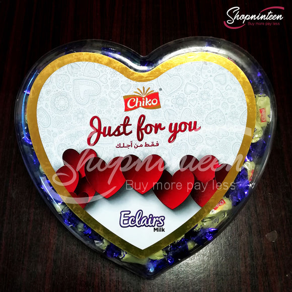 Heart Just For you Eclairs milk Candy