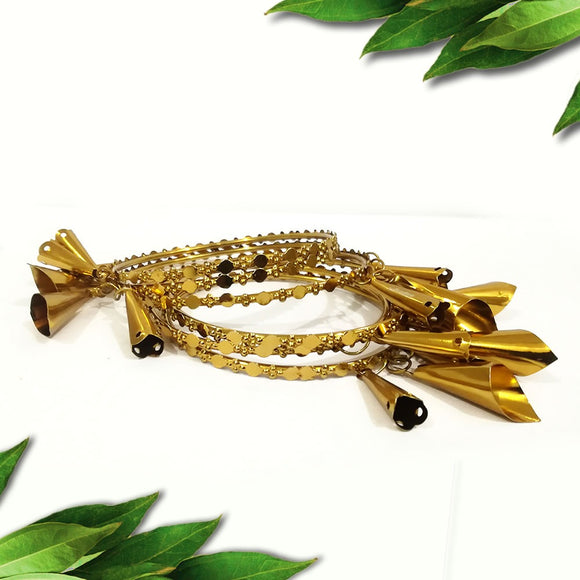 Amazing Golden Bangles Pack of 6