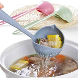 2 In 1 Long Handle Soup Spoon with Strainer Cooking Shovels