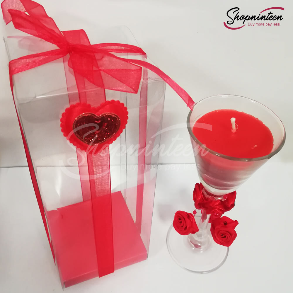 Heart Glass Candle