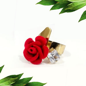 2in1 Red Rose Ring
