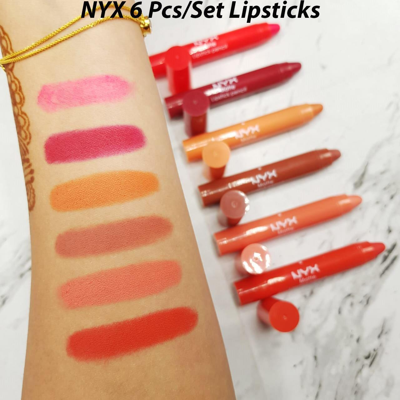 Nyx Lip Crayons pack of Six (06)