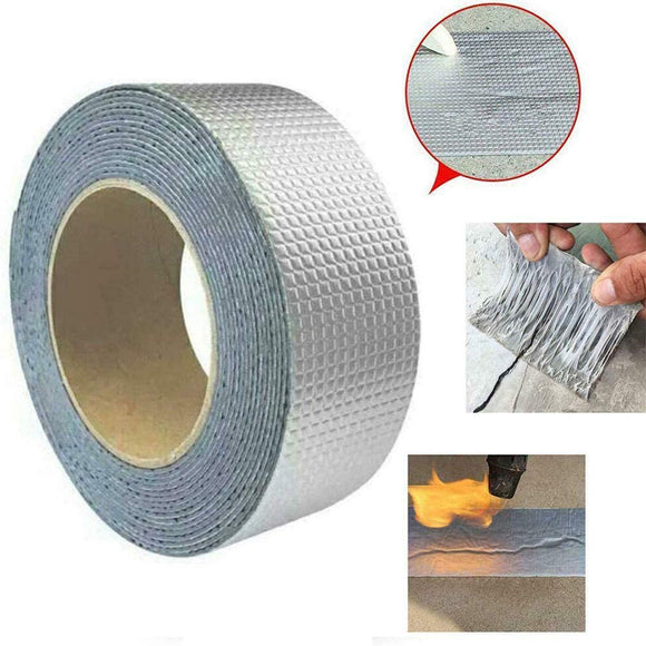 Aluminum Foil Butyl Rubber Tapes Self Adhesive Waterproof Tape (5 Meter)