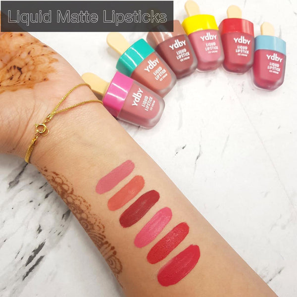 Ice cream liquid lipstick Pack of 6