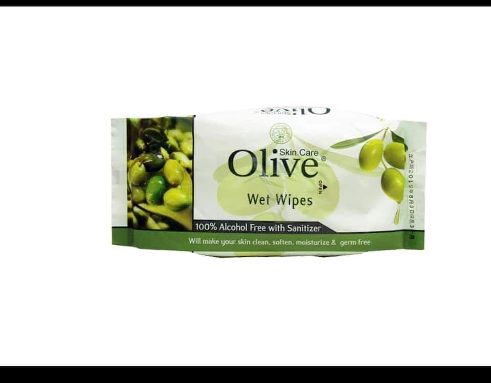 Olive Wet Wipes (Each Pack)