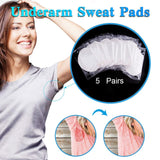5 Pairs, Disposable Underarm Sweat Pads For Men & Women