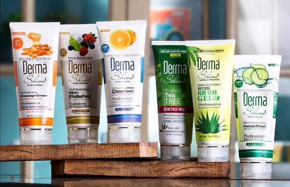 Derma shine fruit whitening facial kit for acne and pores