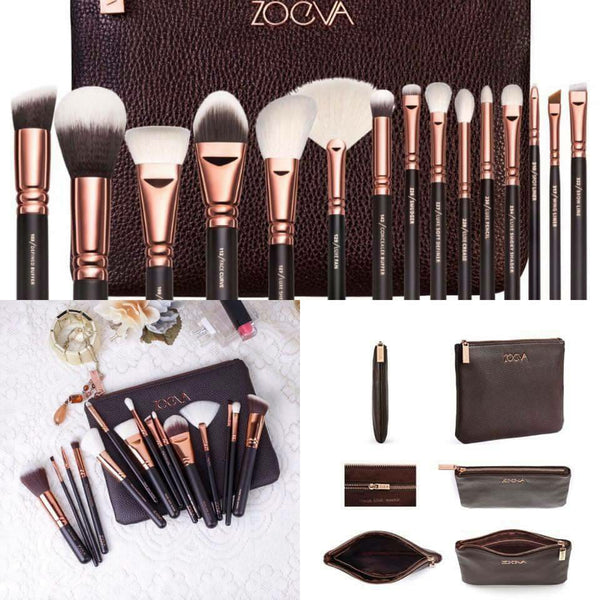 Zoeva Complete Brush Set Black and Brown