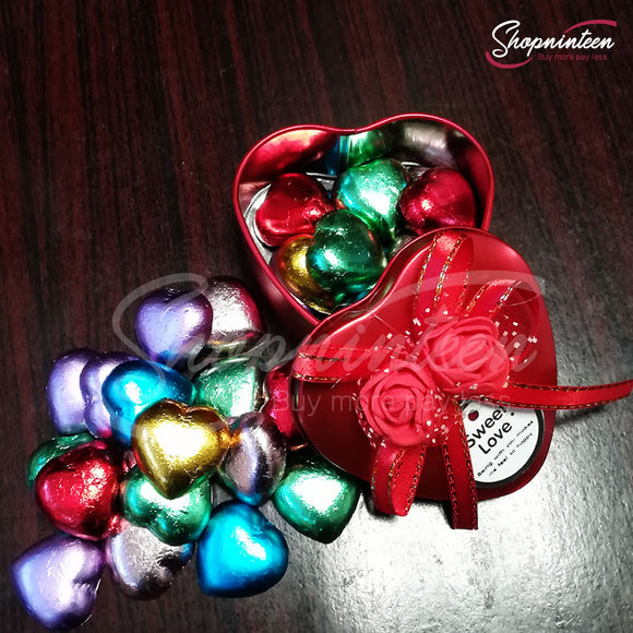 Heart Jewelry Box with Candy
