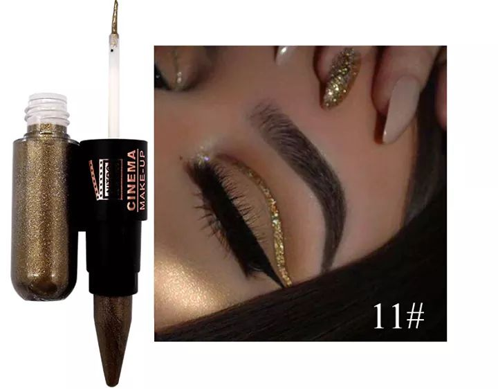 2in1 shiny cream liquid eyeliner pack of 6