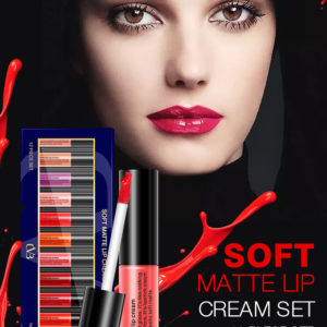 CVB Soft Matte Lip Cream Set (pack of 12 pieces)