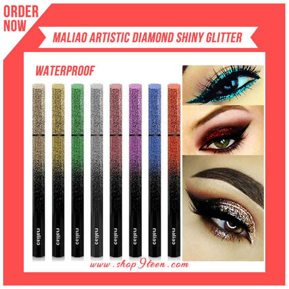 Maliao Artistic Diamond Shiny Eyeliner Waterproof Pack Of 4