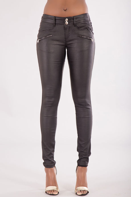 Wholesale Low Waist Leather Trousers