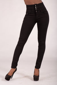 Wholesale simply Chic Black High Waist Jeans