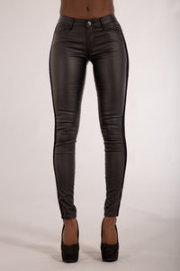 Wholesale My Sweet Side Leather Look Trousers
