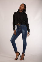 Load image into Gallery viewer, Wholesale Navy Blue Jeans with Studded Hem