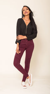 Wholesale Plum High Waisted Jeans